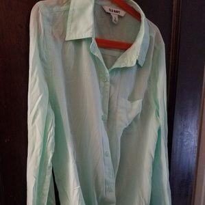 Old Navy soft aqua shirt